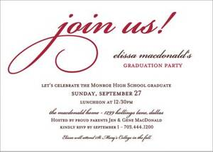 Join Us Graduation Party Invitation