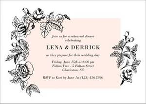 Modern Floral Rehearsal Dinner Invitation