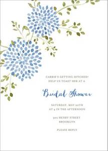 Dahlias Bridal Shower Invitation