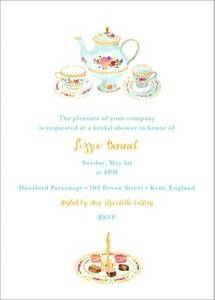 Petits Fours Secs Bridal Shower Invitation