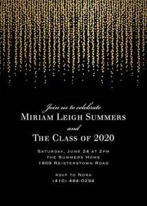 Foil Chandelier Graduation Invitation