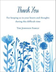 Wildflower Custom Thank You Card