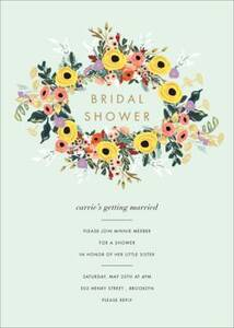 Buttercup Garland Bridal Shower Invitation