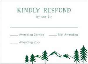 Adventure Bar Mitzvah Response Card