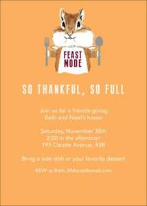 Feast Mode Party Invitation