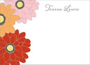 Zinnias Stationery
