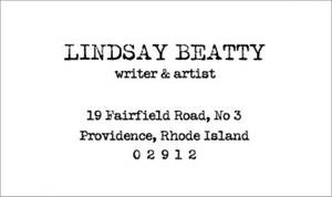 Typewriter Letterpress Business Cards