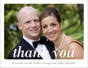 Rounded Frame Photo Thank You Notes