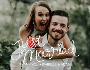 Just Married Script Thank You Note