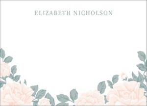 Soft Floral Stationery
