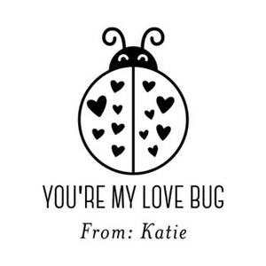 Love Bug Custom Stamp