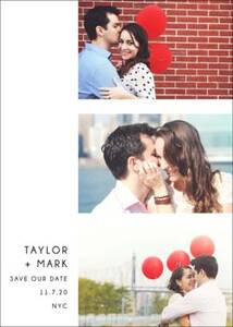 Photo Strip Save the Date Card