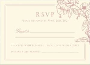 Blossom Border Letterpress Response Card