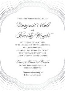 Diamond Arch Foil Thermography Wedding Invitation
