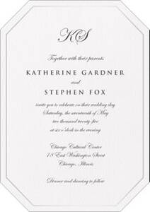 Diamond Cut Foil Thermography Wedding Invitation