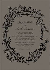 Opulent Wreath Wedding Invitation