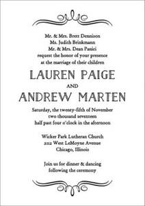 Vintage Marquis Wedding Invitation