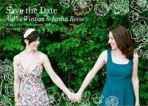 Wildflower Border Photo Save the Date Card