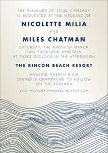 Waves Shimmer Wedding Invitation