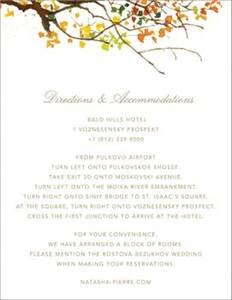 Autumn Boughs Information Card