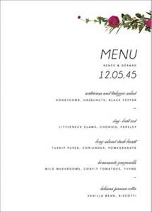 Belvoir Menu