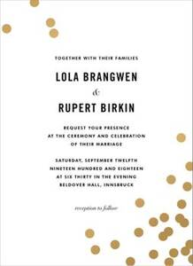Confetti Foil Wedding Invitation