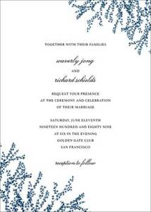 Forsythia Tall Wedding Invitation