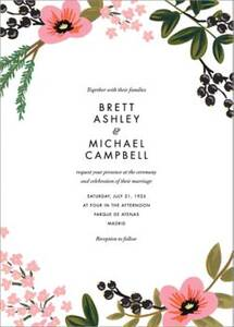 March Herbarium Wedding Invitation