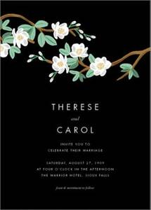 Tea Tree Wedding Invitation