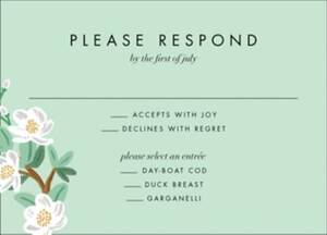 Tea Tree Response Card