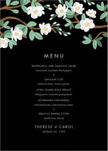 Tea Tree Menu