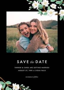 Tea Tree Save the Date Card
