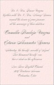 Tall Love Letter Wedding Invitation