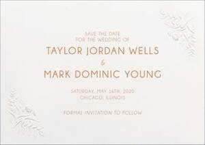 Embossed Floral Save The Date