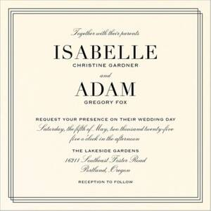 Classic Lined Frame Wedding Invitation