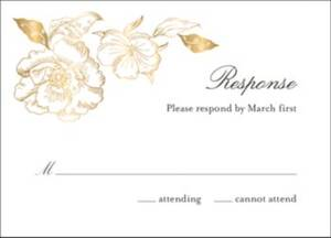 Etched Floral Response Card
