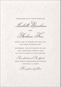 Antique Elegance Wedding Invitation