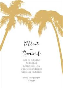 Tropical Palms Wedding Invitation