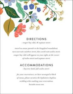 Pressed Wildflowers Information Card