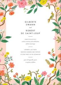 Shanghai Garden Wedding Invitation